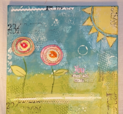 Flower Canvas – a Happy Birthday/Thank You gift